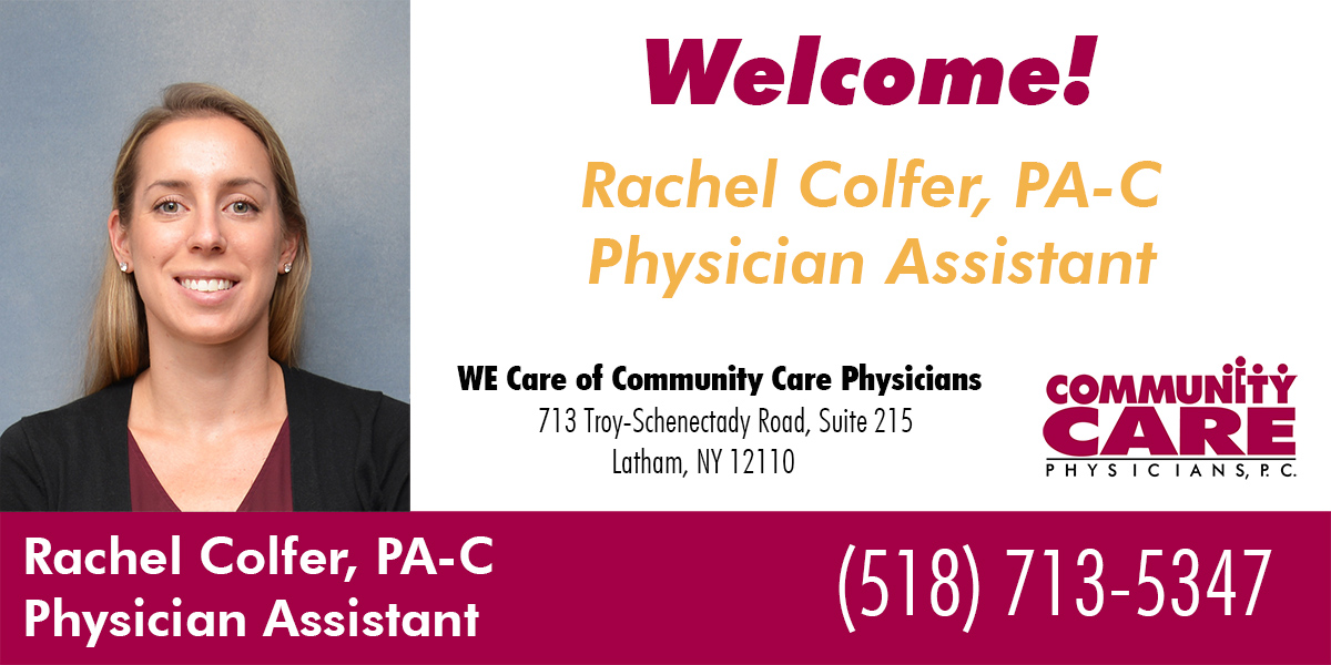 WE Care Welcomes Rachel Colfer, PA