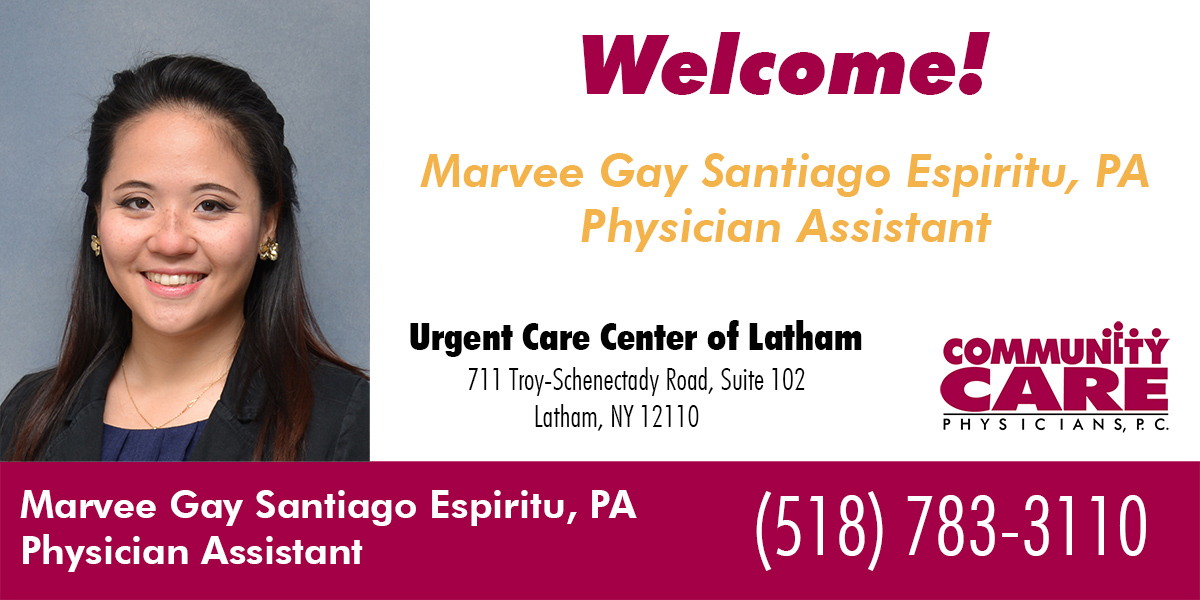 The Urgent Care Center of Latham Welcomes Marvee Espiritu, PA