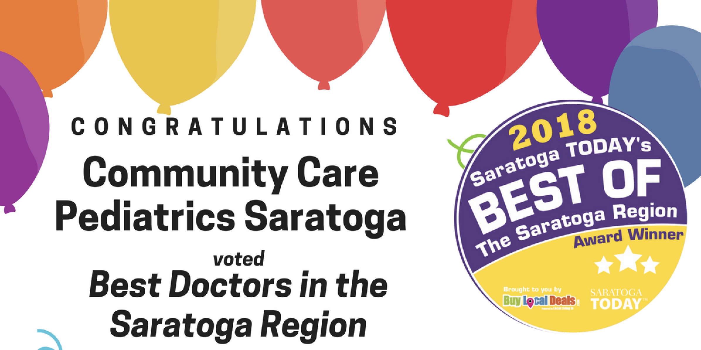 Community Care Pediatrics - Saratoga voted the