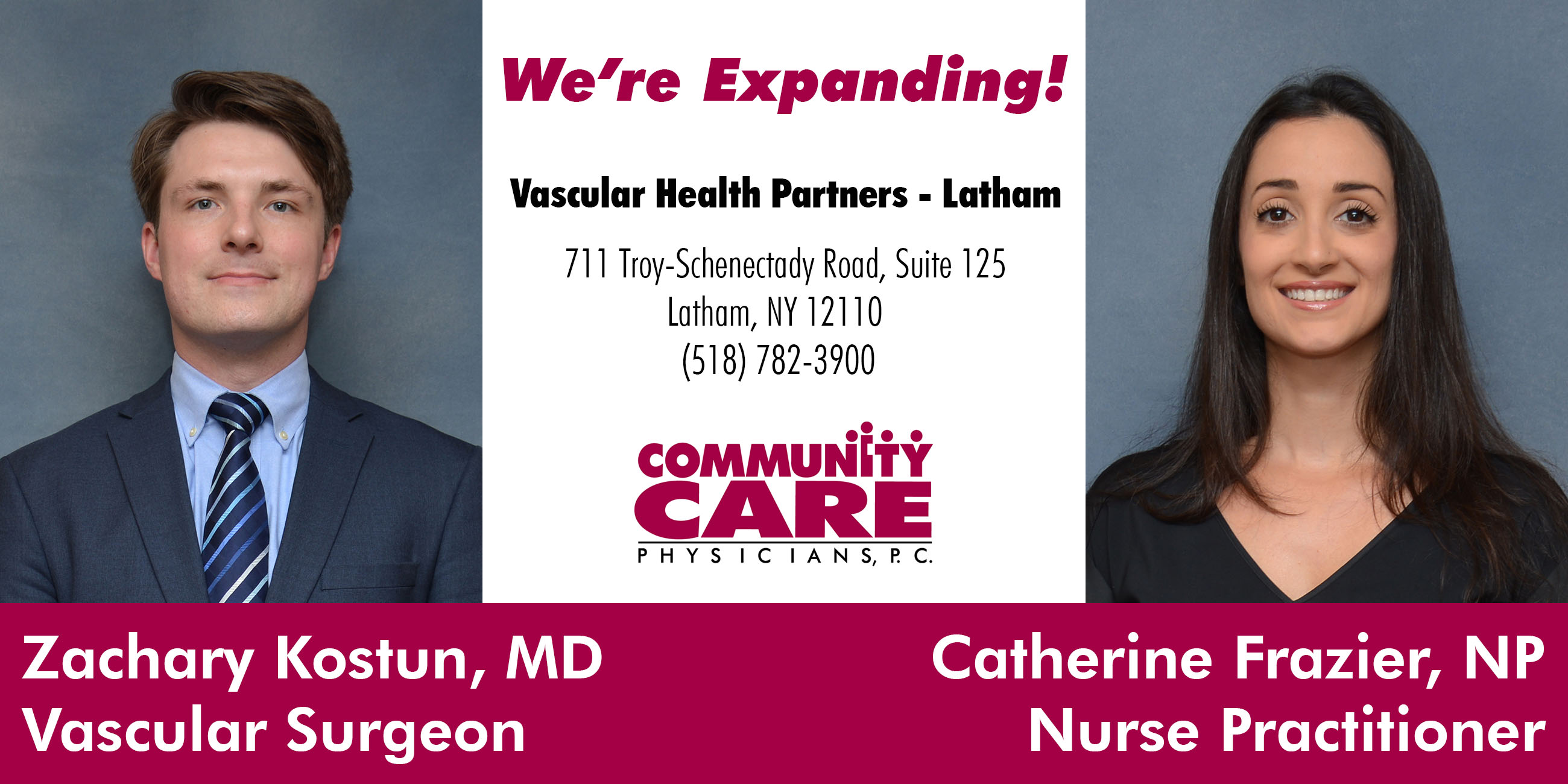 Vascular Health Partners Opening in Latham July 10th