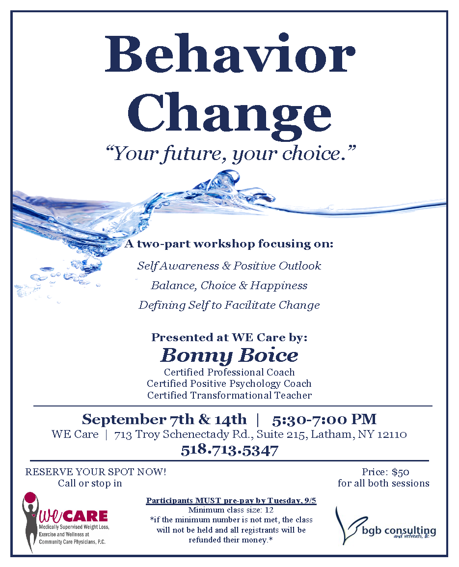WE Care Presents - Behavior Change