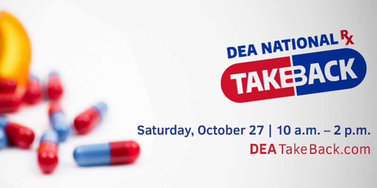 DEA National Rx Take Back Day - October 27, 2018